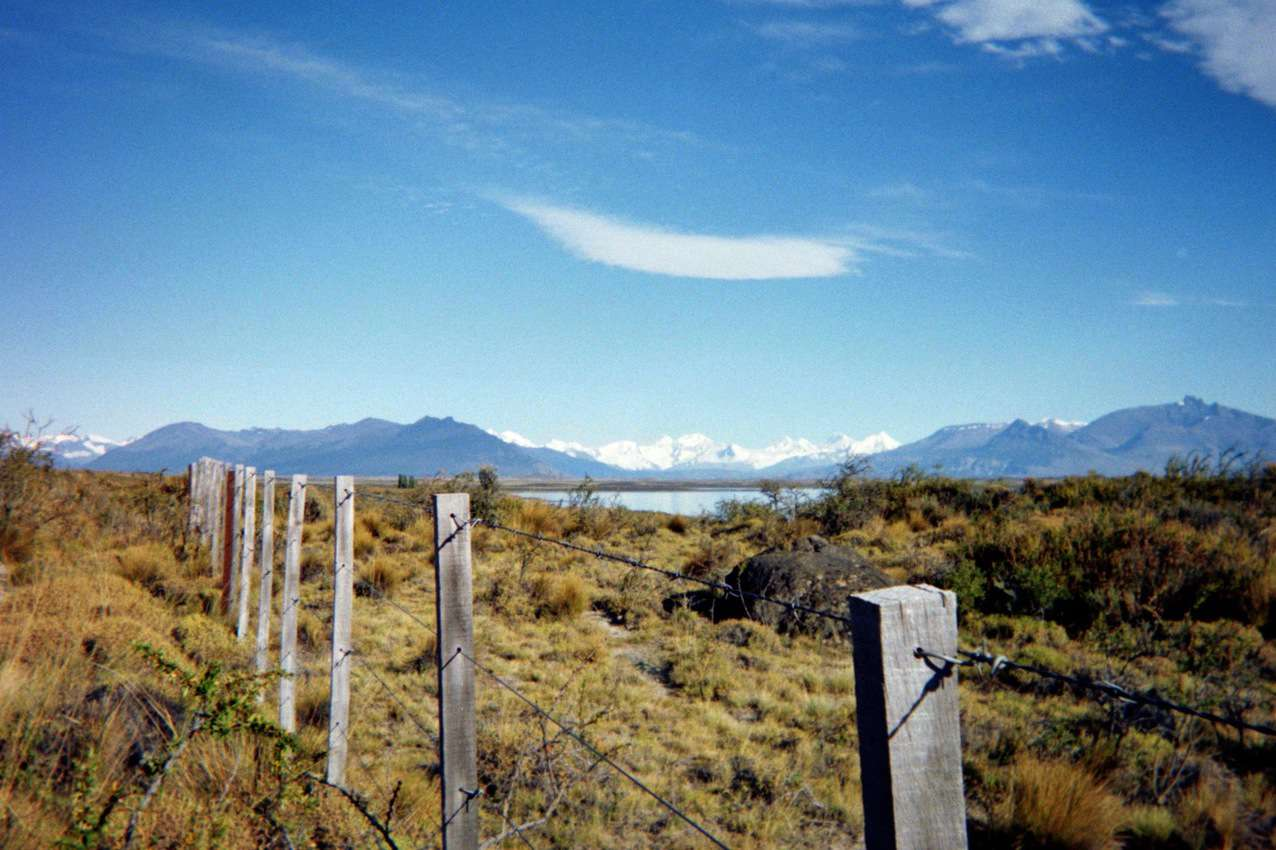 A view of the Patagonian grasslands on the way to the glacier