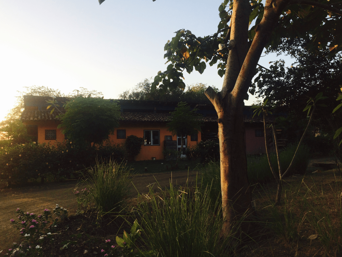 The front of Venao Cove Hostel at Playa Venao