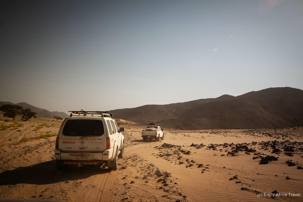 Setting out into the vast desert of Sudan. www.ourwildjourney.com photos.