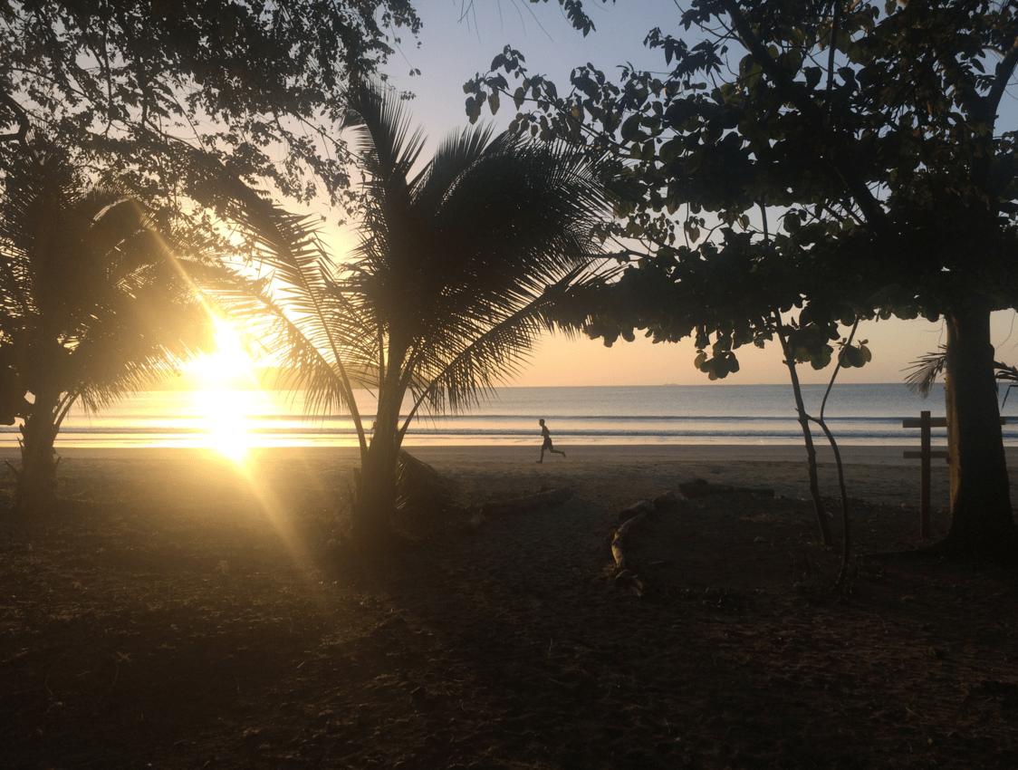 Ariel on a morning run at Playa Venao