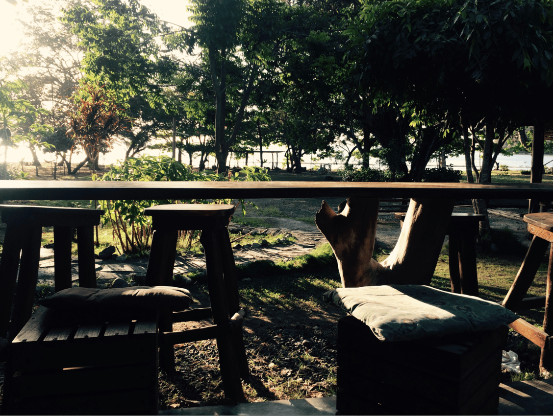 The view from the sitting area in back of the hostel at Playa Venao