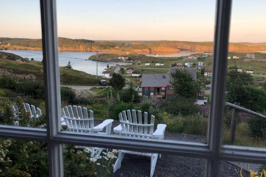 View from the Fishers Loft Inn, Port Rexford NL.