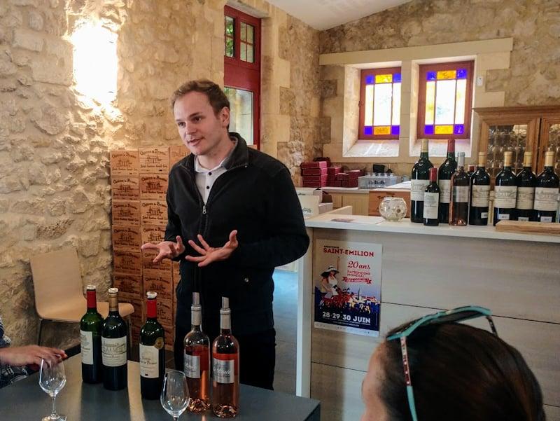 Sebastien at Château de Pressac in Saint-Emilion describes the nuances of elite wine classification systems.