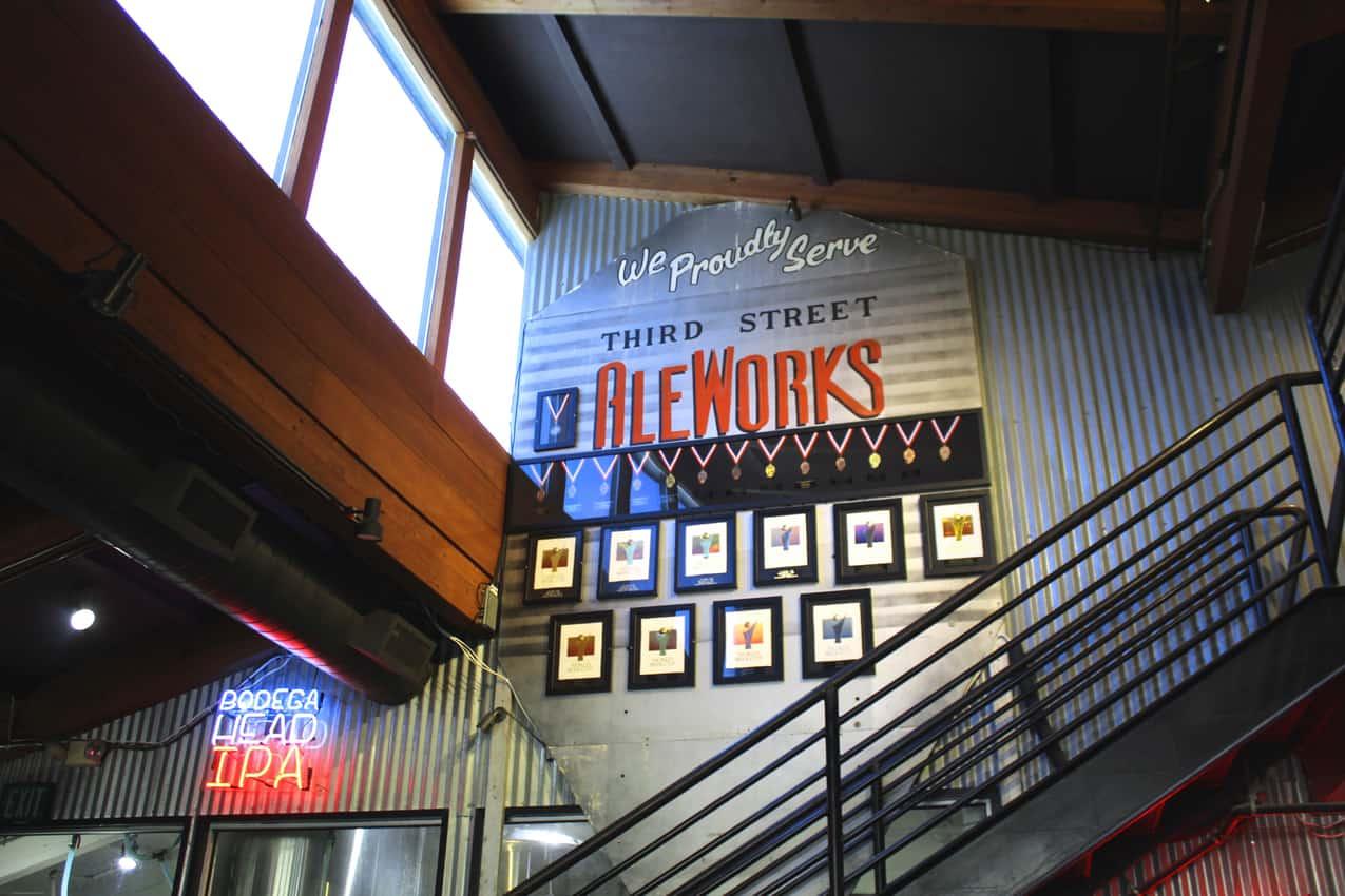 Third Street Aleworks, downtown Santa Rosa CA