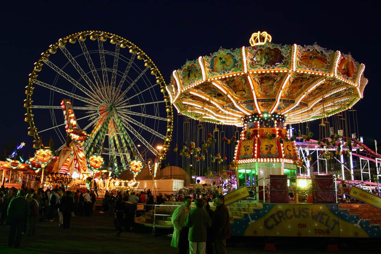 Every year people enjoy the traditional fun fair at Schueberfouer. © Tommi Lappalainen LFT.