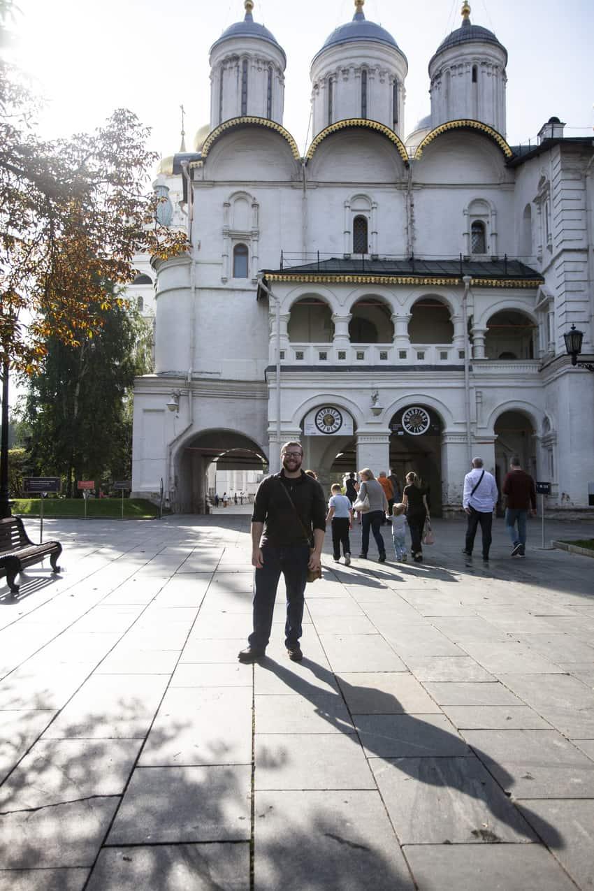 The author inside the Kremlin.