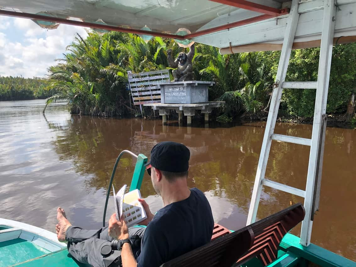 Entering Tanjung Puting National Park in Borneo.
