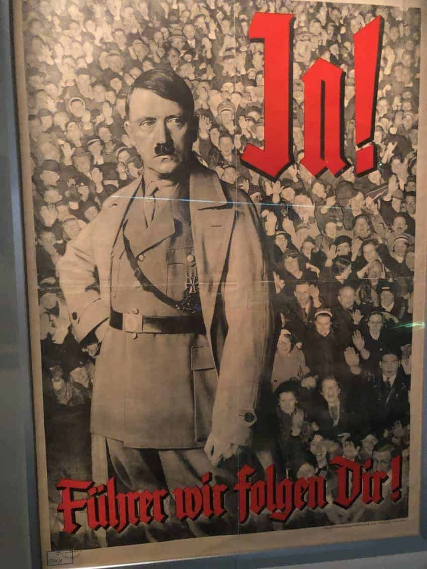 Campaign poster for Hitler in the Museum of Military History in Dresden.