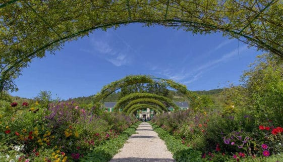 The Clos Norman Garden filled with August's blossoms in Giverny France. Carolina Noir photos.