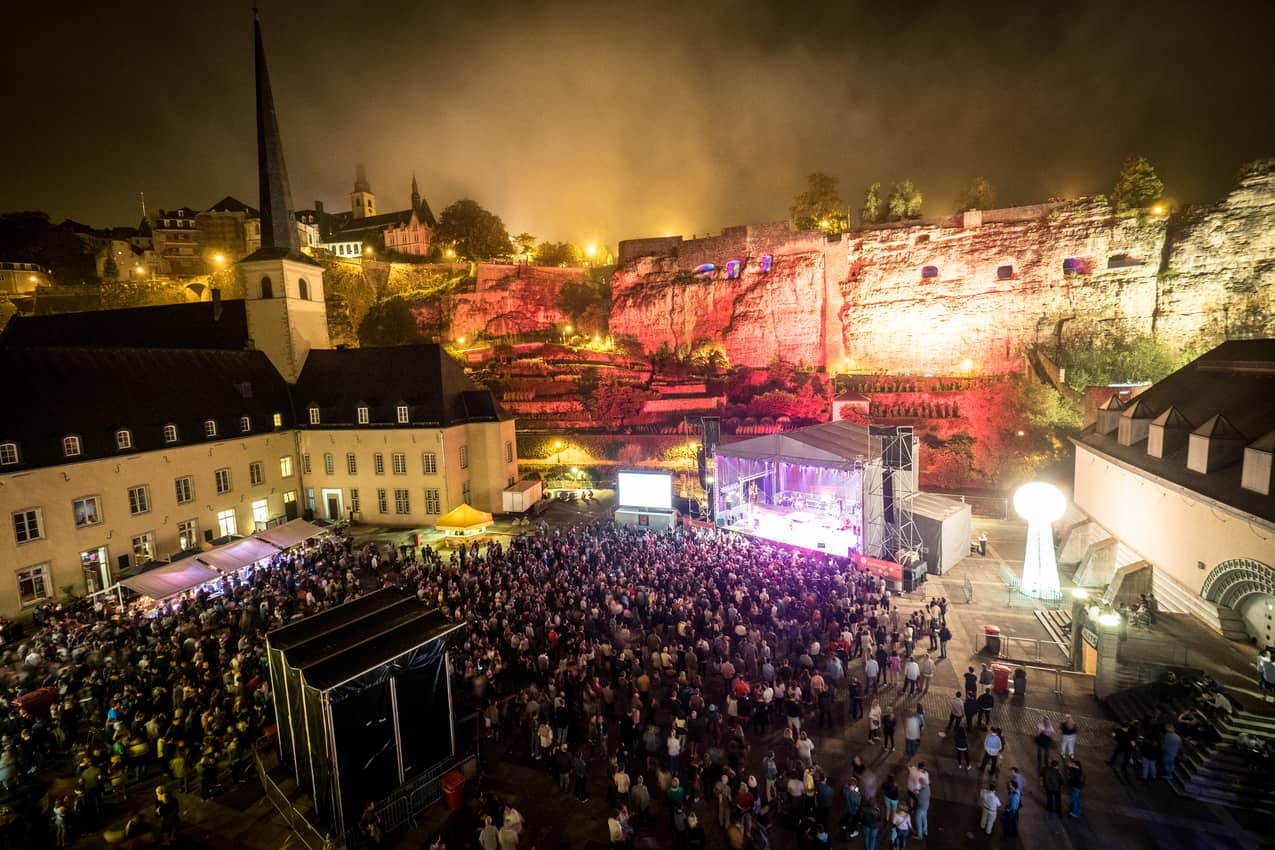 The old part of Luxembourg regularly plays backdrop to outdoor concerts.© Claude Piscitelli LFT