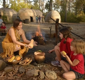 Powhatan Village recreates the native settlements of the 1600s.