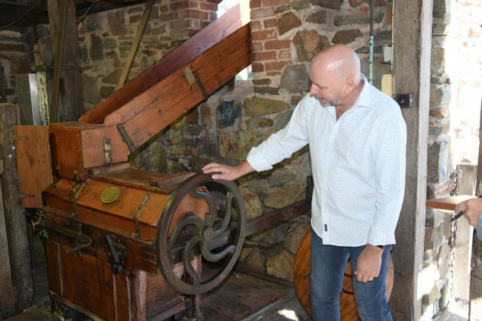An old winemaking device.