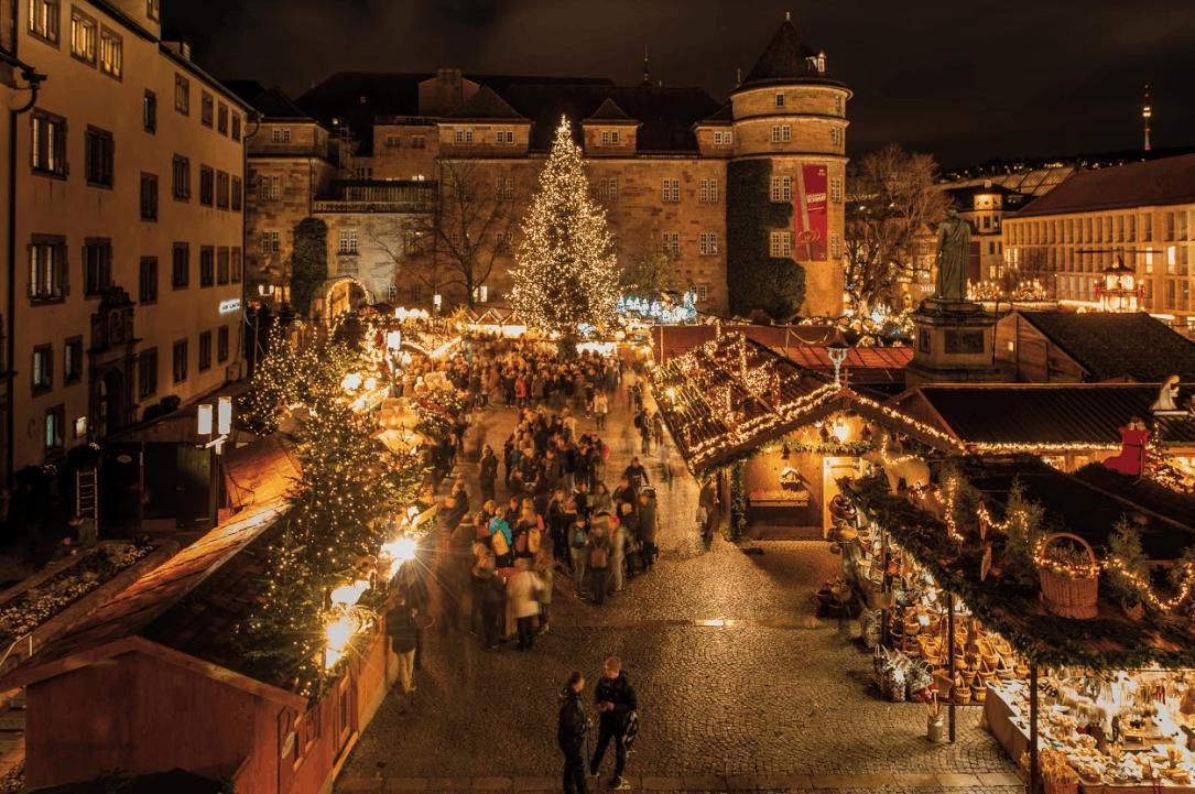 Schiller Square in Stuttgart: The Heart of the Christmas Market.
