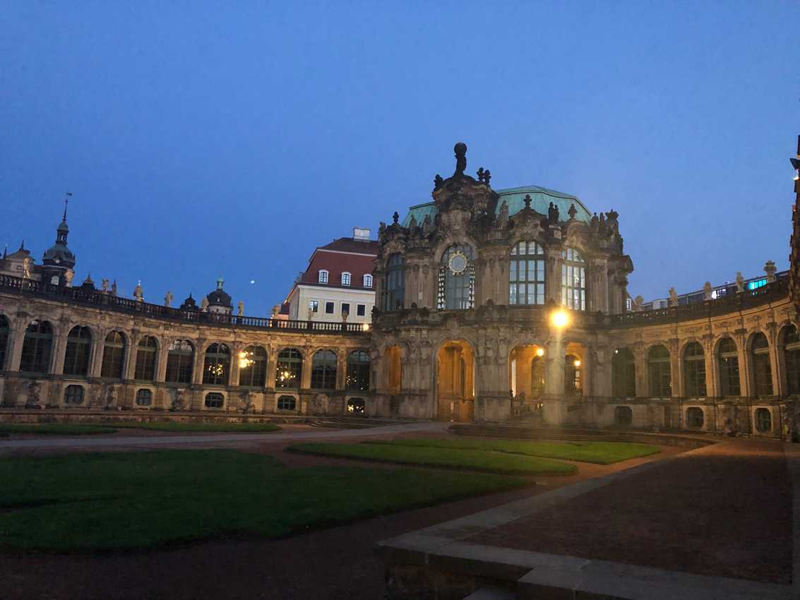 Inside the walls of Dresden's Zwinger.