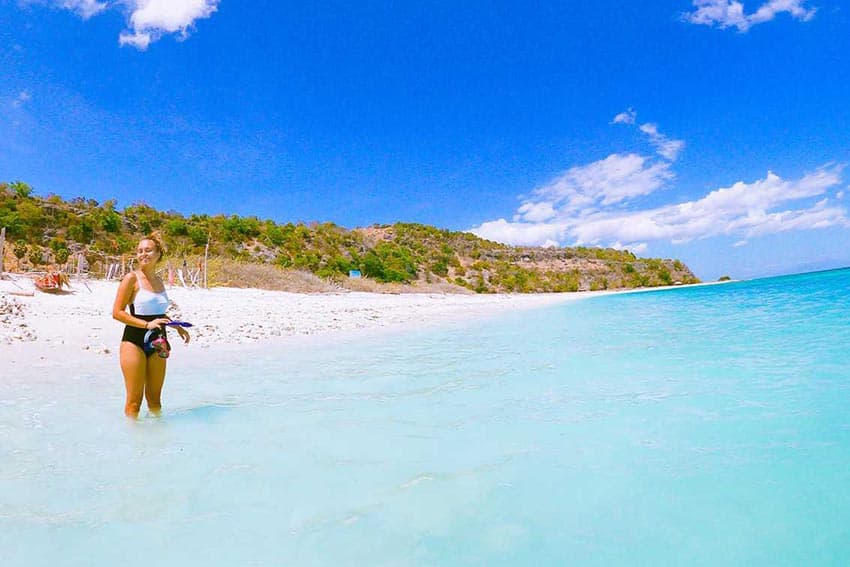 The author at one of Timor-Leste's pristine beaches