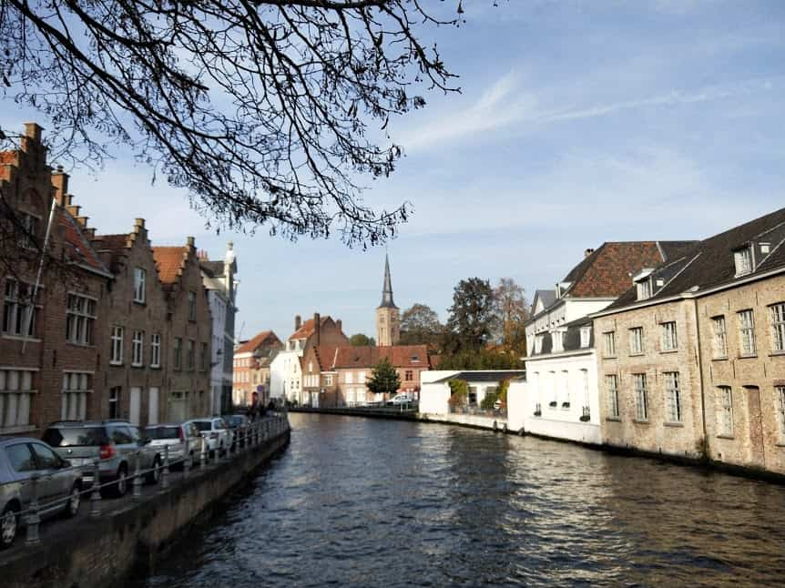 A canal in Bruges Belgium