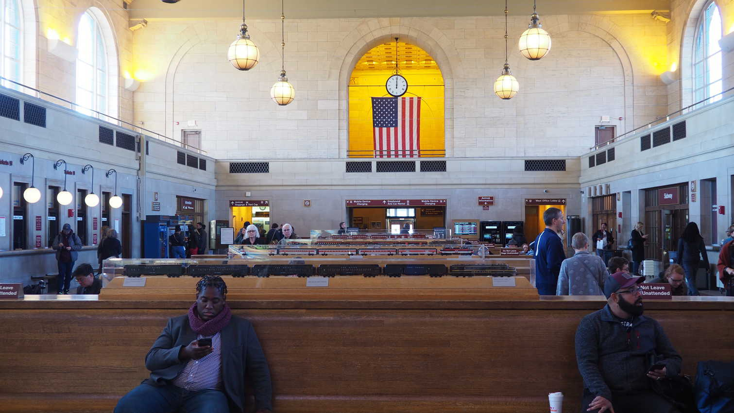 The inside of Union Station in New Haven Connecticut.