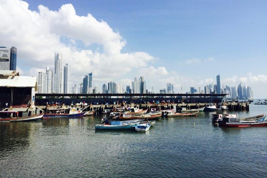 Fishing boats at a dock in Panama City