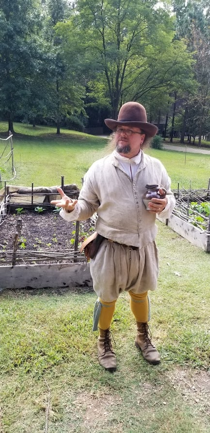 A reenactor at Jamestown.