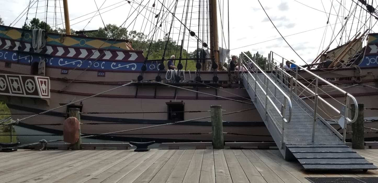 Come aboard a replica of one of the Susan Constant, one of the ships that brought English settlers to Jamestown in 1604. Jack Dunphy photo.