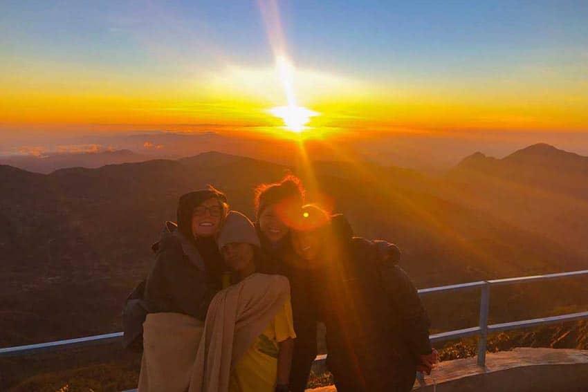 Sunrise from the highest point in Timor-Leste