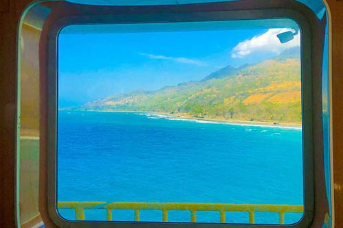 The Timor coastline from a boat