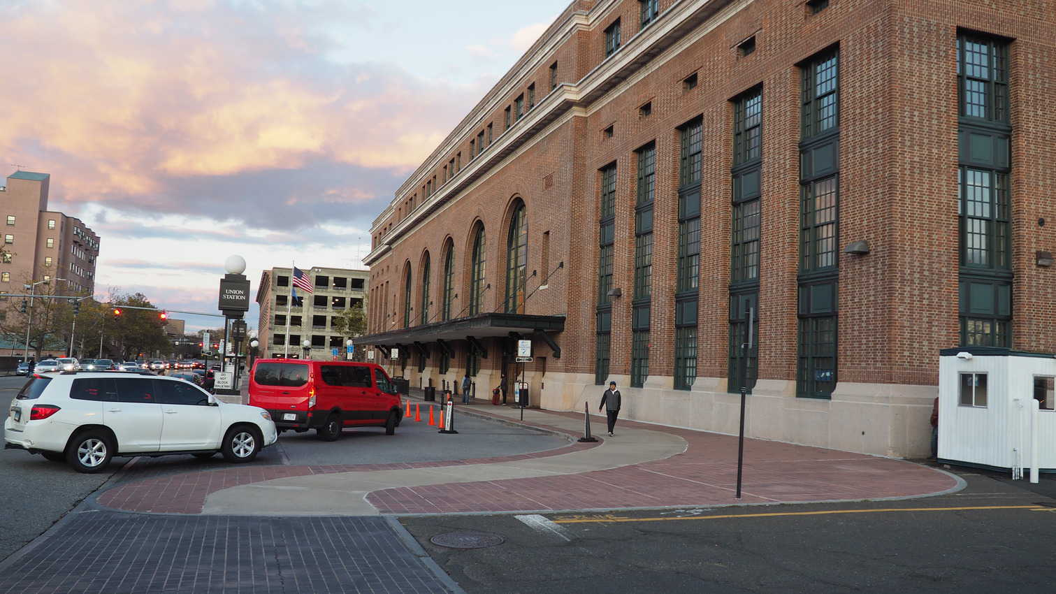 Union Station, Springfield, Massachusetts. It's a train and a bus station and a central hub in the city.