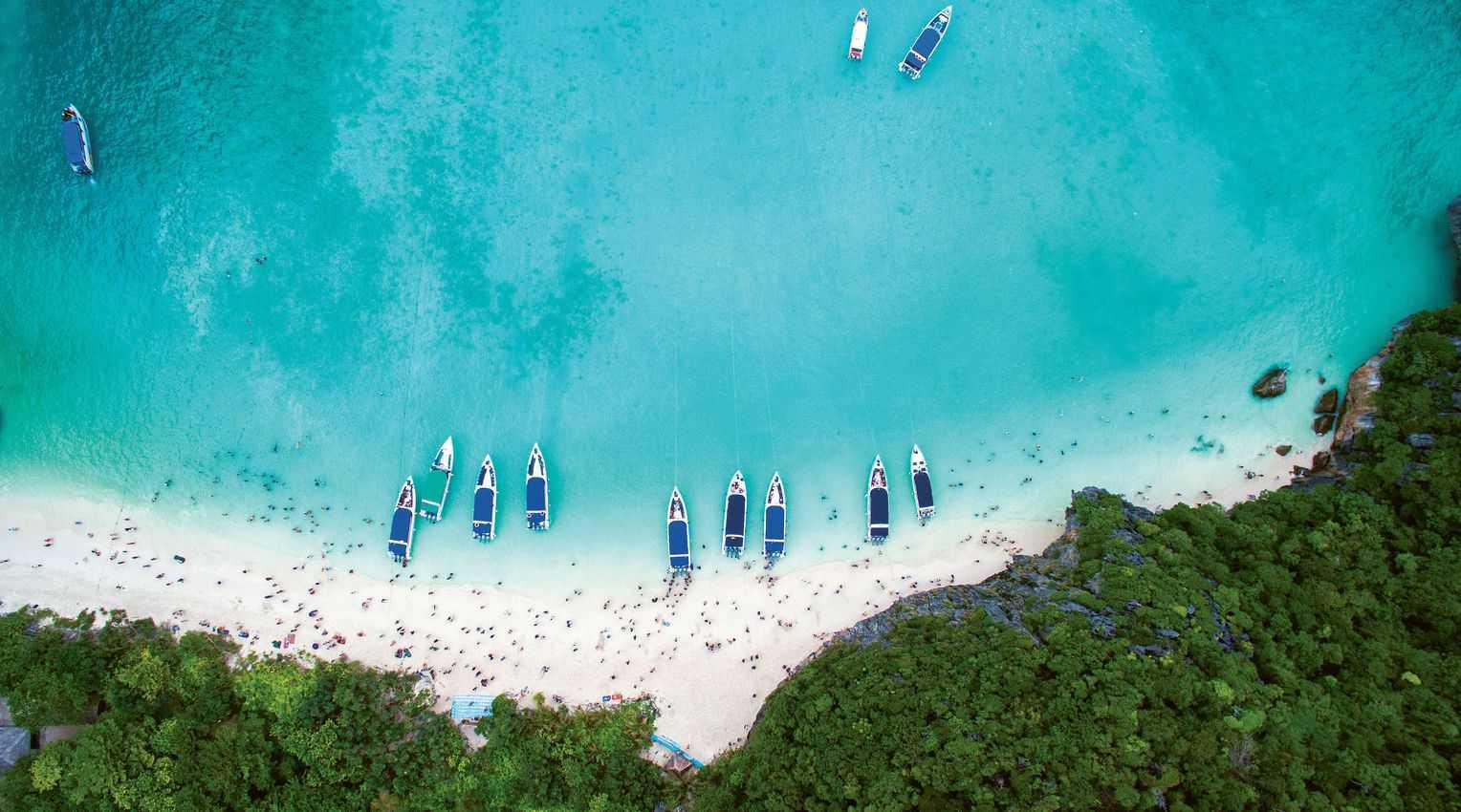 A gorgeous beach on a Thai island.