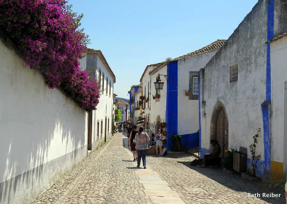 A typical street scene in Obidos