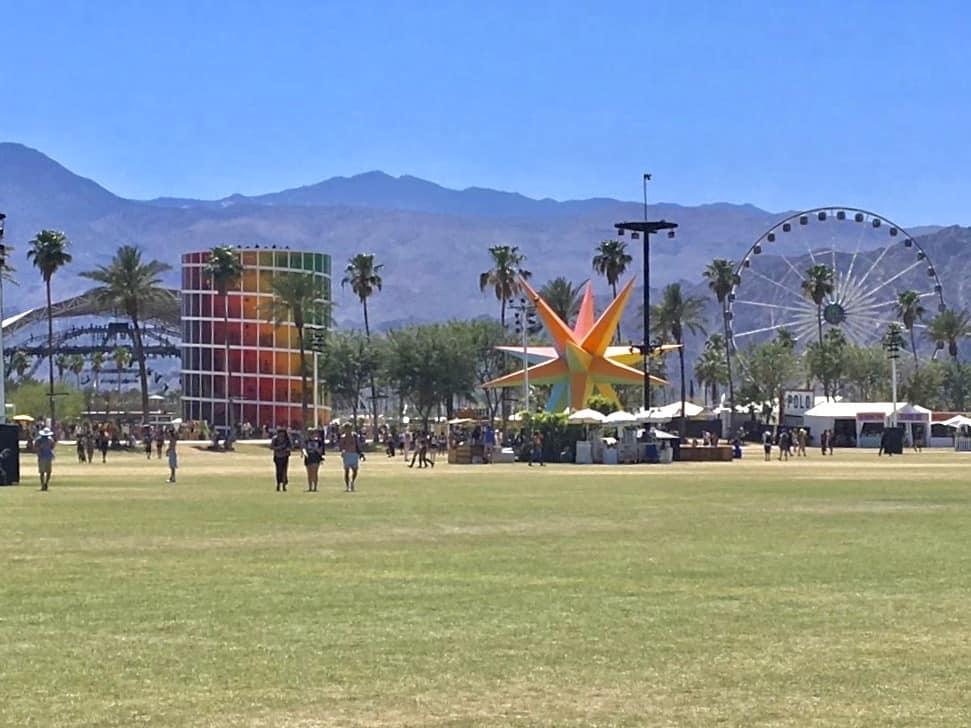 The Coachella festival site by day.