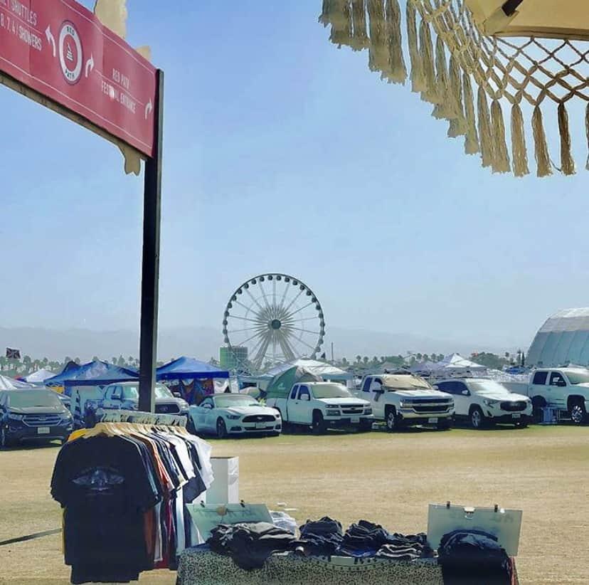 Coachella's car camping area.