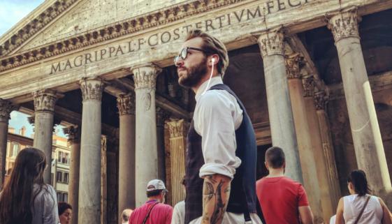 A traveler on a Geotourist tour.