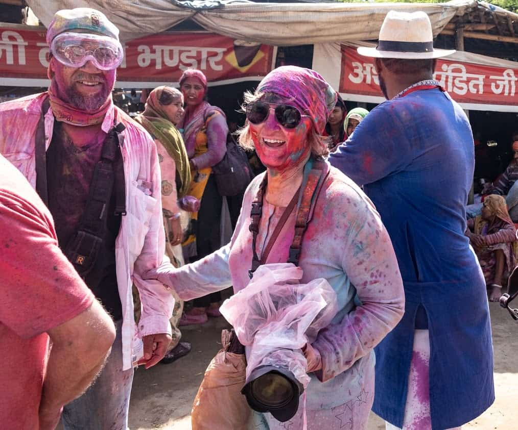 Donnie Sexton at the Holi Festival in India.