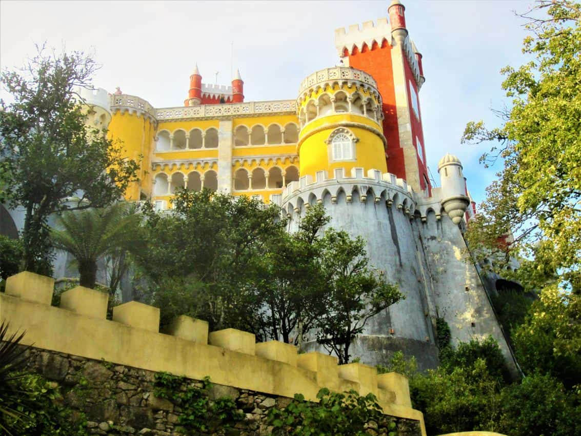 Colorful and quirky Pena National Palace, Sintra, Portugal