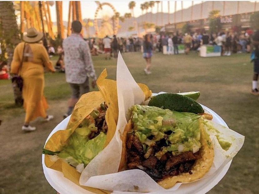 Guerilla tacos at Coachella.