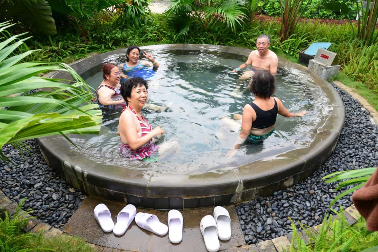 Thermal Baths at the Holiday Inn Resort Qionghai Guantang on Hainan Island, People's Republic of China