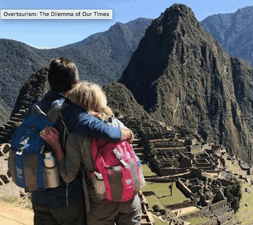 Crowded Machu Picchu.