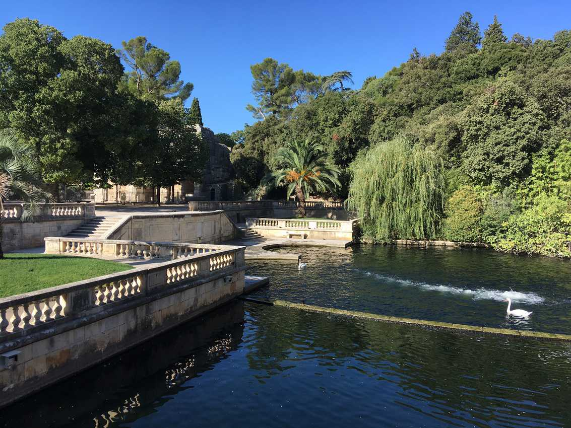 The popular Fountain Gardens is a shady haven in Nimes