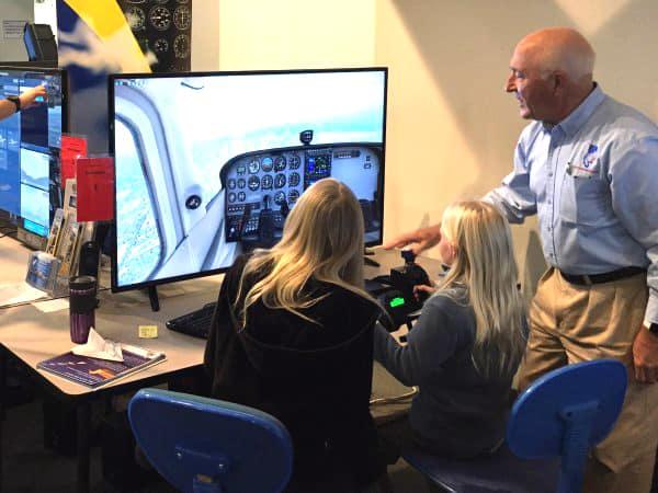 Flight Simulator class at Hiller Avation Museum, San Carlos CA.