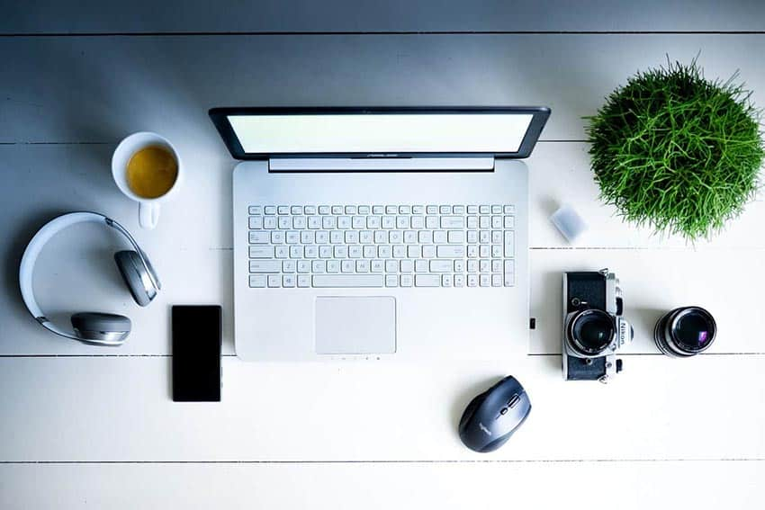 A remote work setup (Image by Rudy and Peter Skitterians from Pixabay)