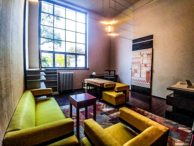 A sneak peek inside Gropius' Bauhaus school office in Weimar reveals exactly what his vision of spatial and interior designs felt like.