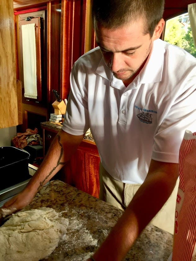 Each morning the chef onboard makes homemade bread for guests on the Adriatic Breeze.