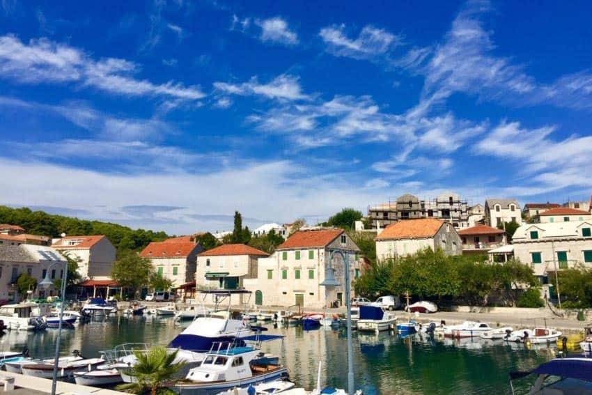 Pretty little marinas like this one in Vis, Croatia, line the islands along the Dalmatian Coast.