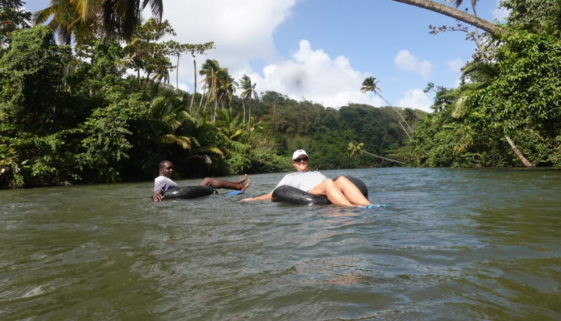 Tubing the Hempstead River Dominica
