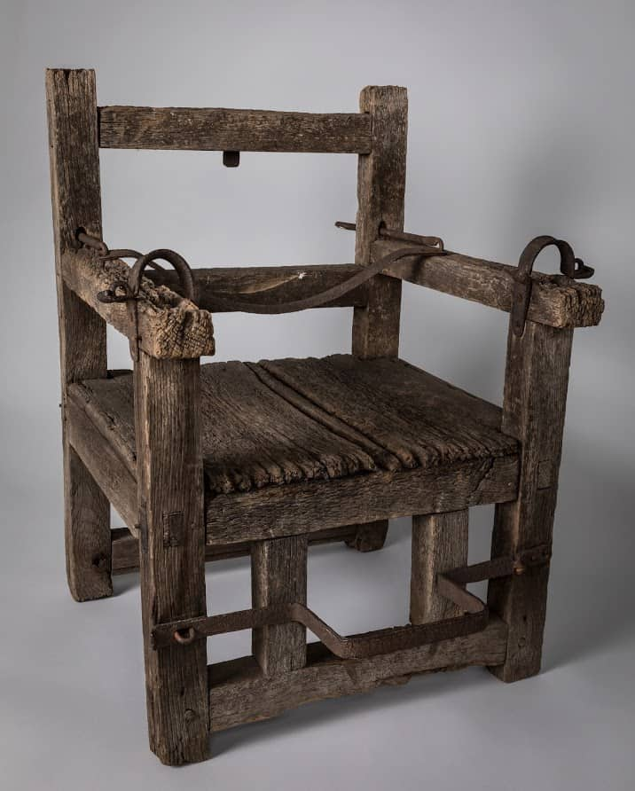 The Dunking Chair in Jamestown.