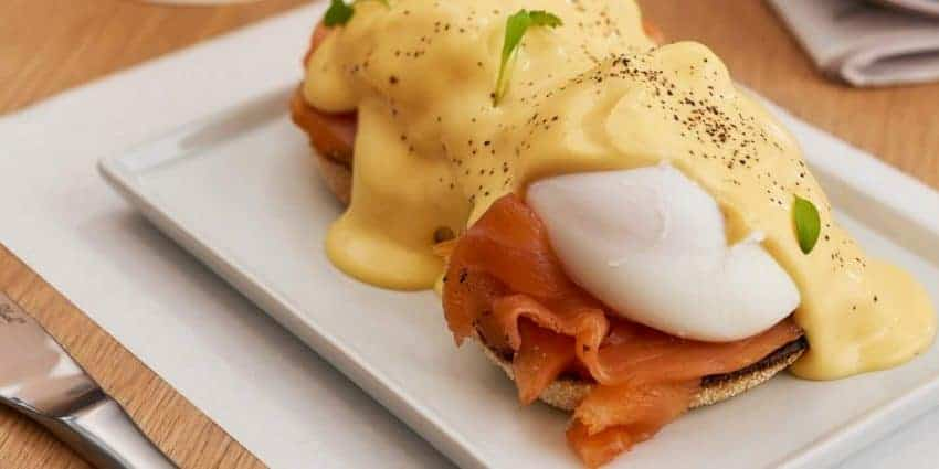 Eggs Royale to start the day on the Caledonia Sleeper train.