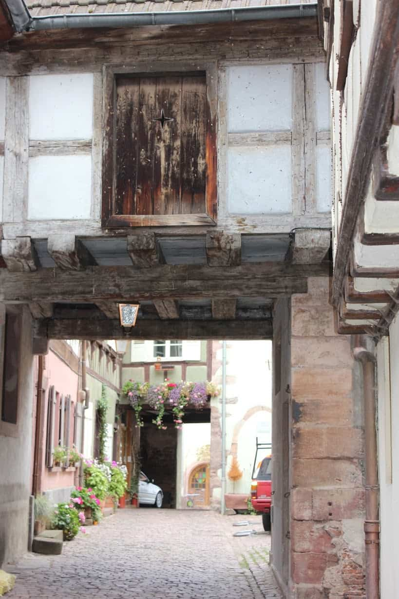 Entrance to the main street in Riquewihr.