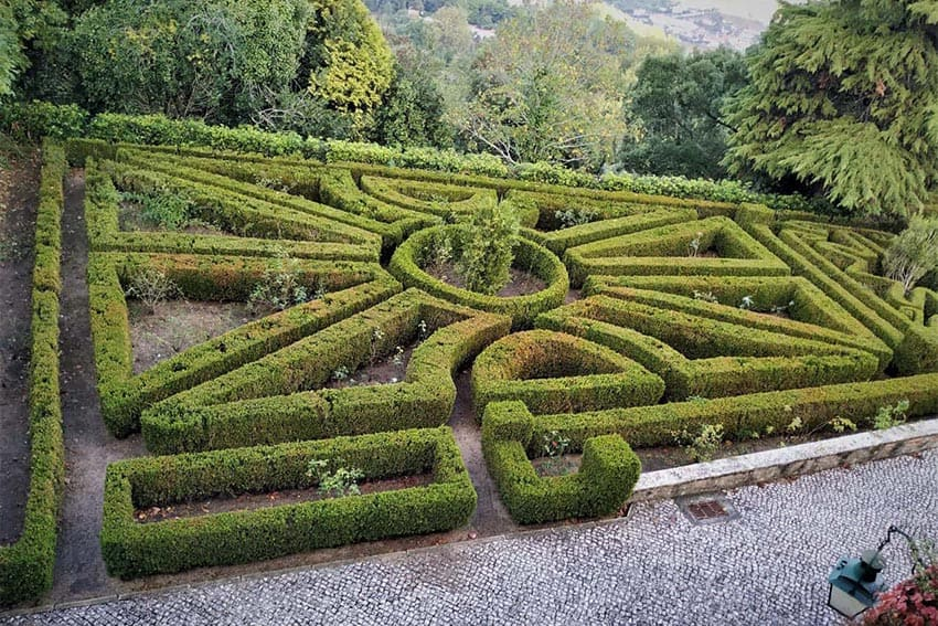 Manicured gardens in Palace de Seteais, Sintra, Portugal