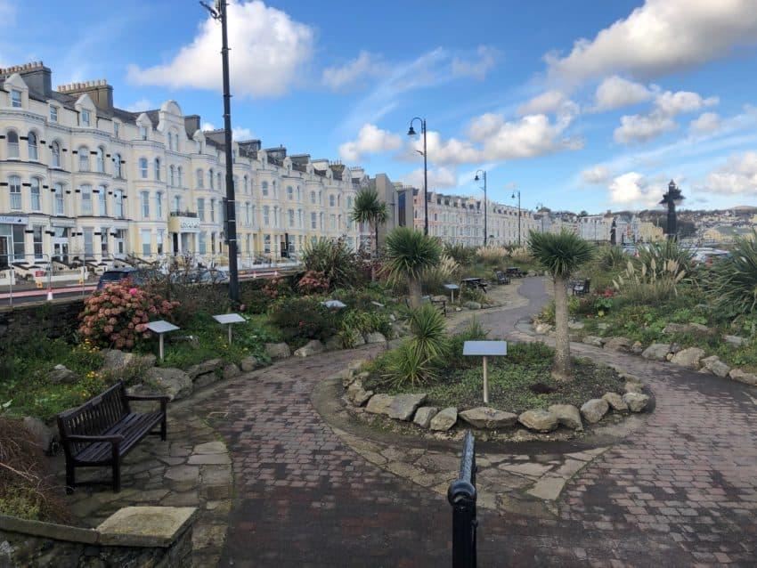 Douglas promenade with seafront gardens.