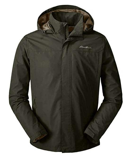 Eddie Bauer packable rain jacket loden clothing